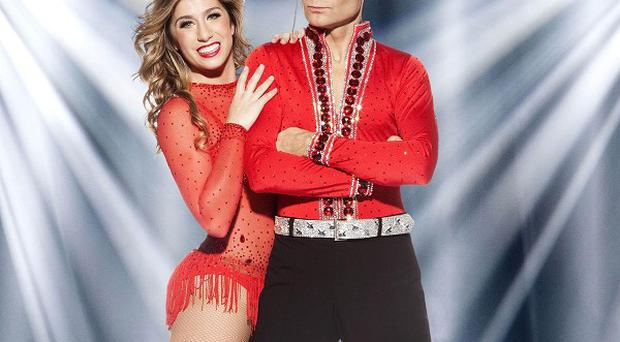 Corey Feldman and pro skating partner Brooke Castile were booted off Dancing On Ice