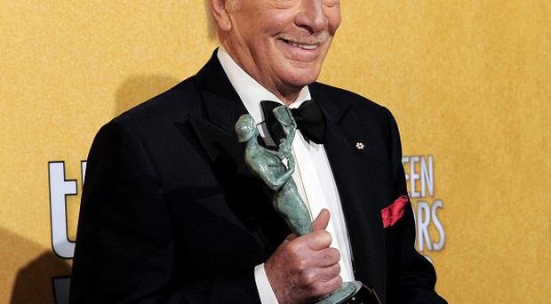 Christopher Plummer with his statuette at the 18th Annual Screen Actors Guild Awards (AP)
