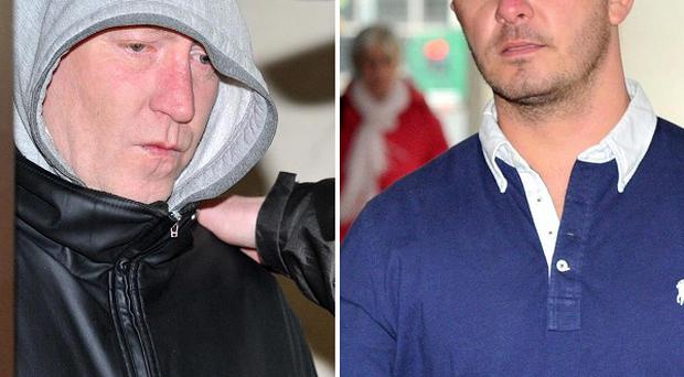 Steven Malcolm, left, and Lee Platt have been jailed for trying to blackmail Coleen Rooney