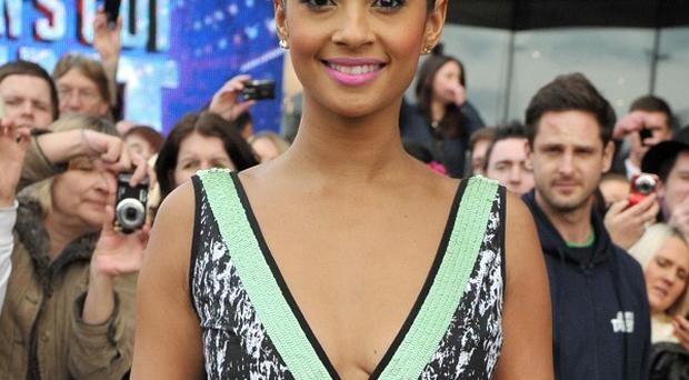 Alesha Dixon says she is missing Amanda Holden, who is in hospital after giving birth