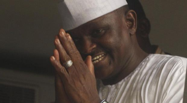 Hamza Al-Mustapha leaves the court after the verdict in Lagos, Nigeria (AP)