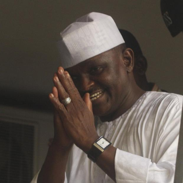 Major Hamza Al-Mustapha leaves the court in Lagos, Nigeria, after being sentenced to death by hanging (AP)