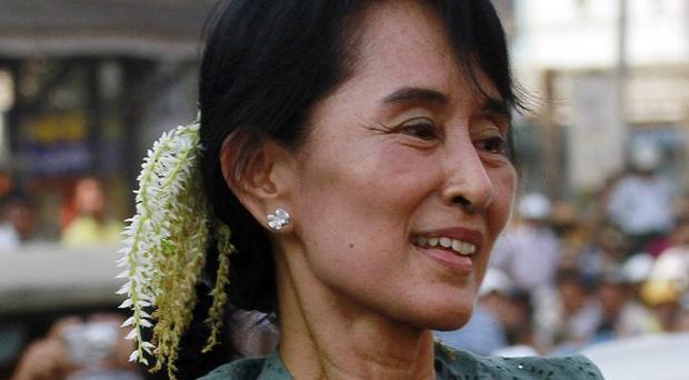 Burmese pro-democracy leader Aung Sang Suu Kyi has been hailed as a 'figure of brilliance' by David Cameron