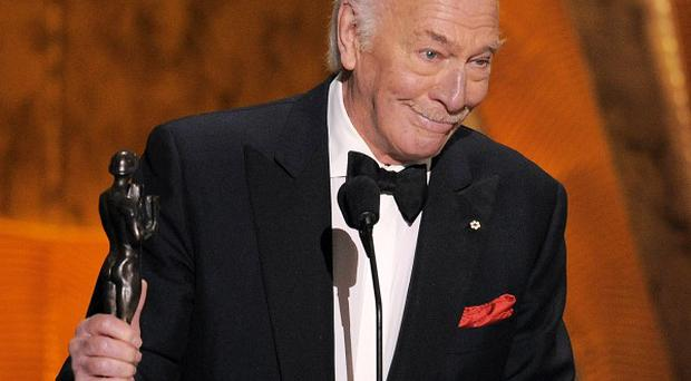 Christopher Plummer accepts his award at the 18th Annual Screen Actors Guild Awards