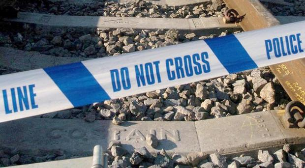 A man died after being hit by a train in Stoke-on-Trent, British Transport Police said