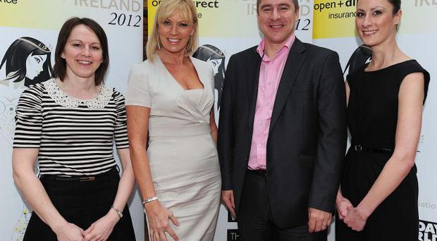 Libby Morris,Alison Campbell, Mark Hallon and Helen Sargent from Open Direct Insurance pictured at the launch of the 2012 Open + Direct Miss Northern Ireland Contest