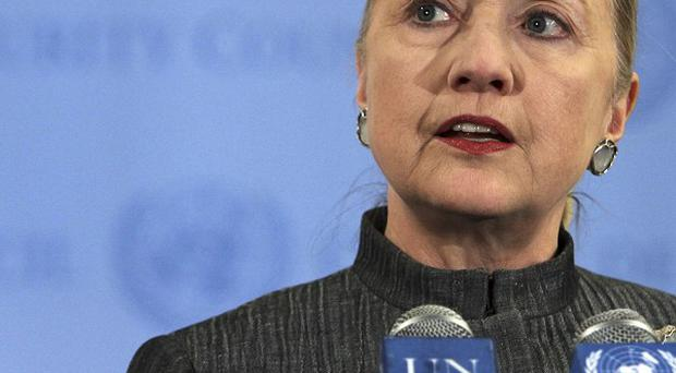 US Secretary of state Hillary Clinton urged UN members to support the people of Syria (AP)