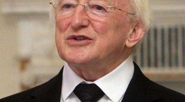 President Michael D Higgins could be urged to call a referendum over the EU treaty