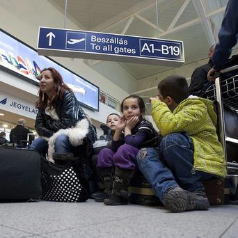 Passengers across Hungary have been left stranded after the national airline Malev grounded all flights (AP)