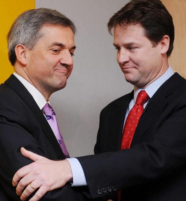 Nick Clegg hopes Chris Huhne