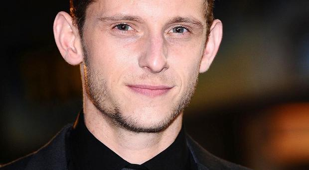 Jamie Bell tried to protect his co-star's modesty during the filming of Man On A Ledge