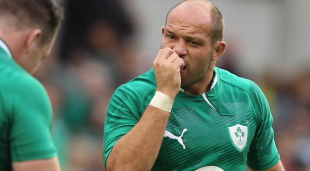 Nail-biting: Rory Best is hoping Ireland can reproduce the form that saw them top their pool in last year's World Cup