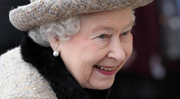 The Queen greeted well-wishers after attending a church service on her Sandringham estate