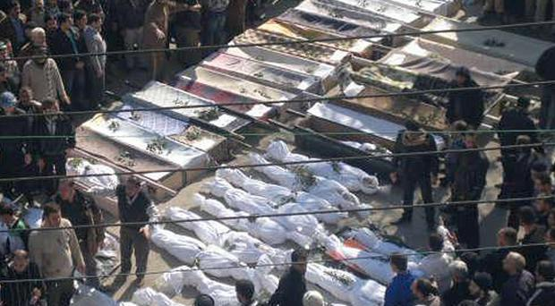 A Local Co-ordination Committees in Syria image of casualties in Homs