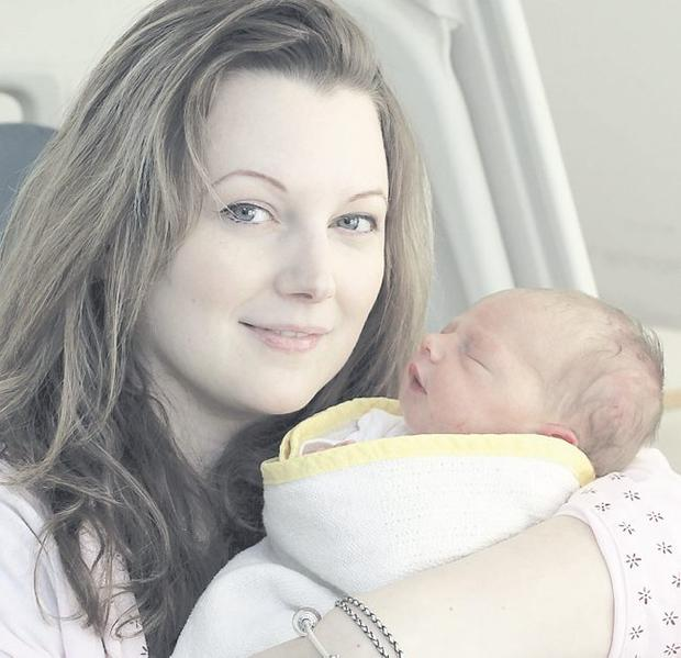 Bundle of joy: Claire with her first-born Emily-Jane <p><b>To send us your Baby Pics <a href=