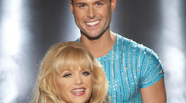 Dallas Star Charlene Tilton and pro skating partner Matt Gonzalez having been voted off Dancing On Ice