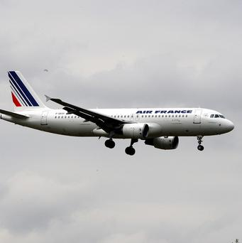 French staff are striking in protest at a bill in Parliament that would require air transport workers to give 48 hours notice before striking