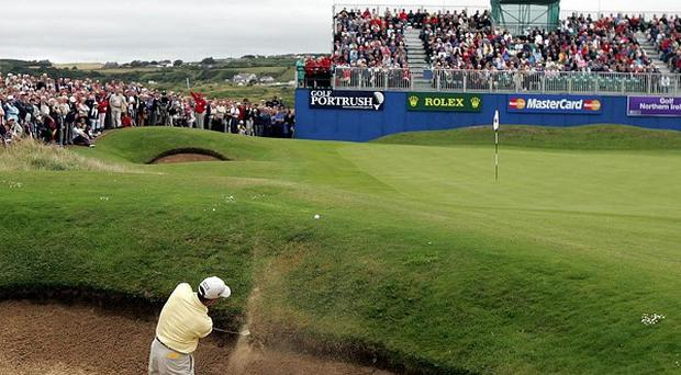Golf action at Royal Portrush
