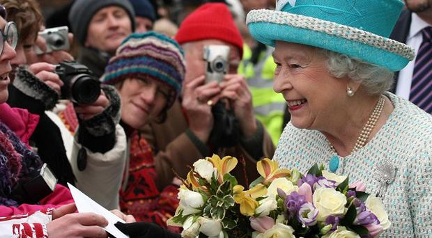 The Queen is greeted by wellwishers in Kings Lynn, Norfolk