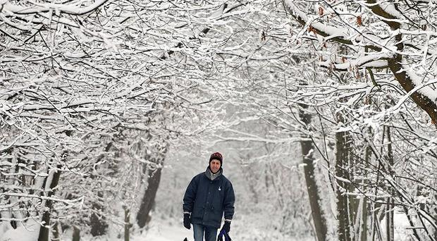 Heavy snowfall in the UK forced several London-bound flights to divert to Ireland