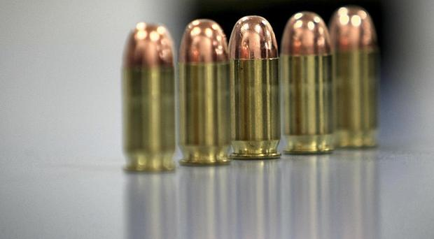 A quantity of ammunition and suspected firearms were recovered in Ballymena, police said