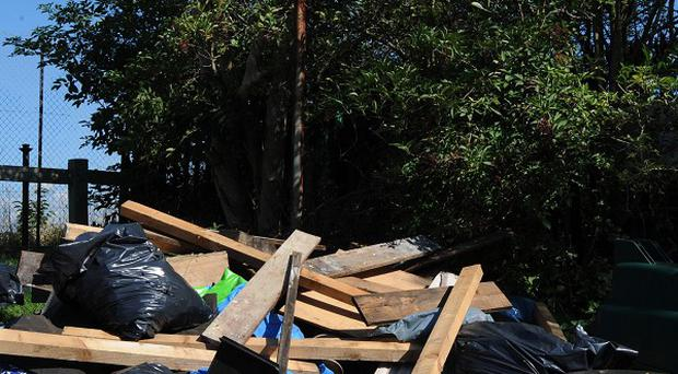 The Department of the Environment is working with Crimestoppers to tackle illegal waste dumping