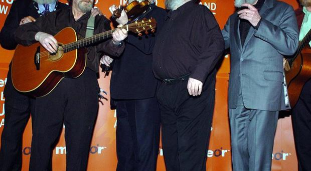 The Dubliners accepted a lifetime achievement gong at the BBC Radio 2 Folk Awards