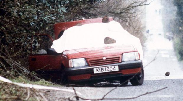 Murky past: the car in which Harry Breen and Robert Buchanan were ambushed by the IRA