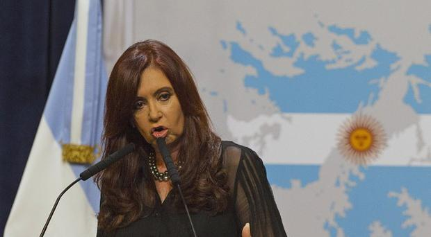 President Cristina Fernandez said Argentina will complain to the UN after the UK sent a warship to the South Atlantic (AP)