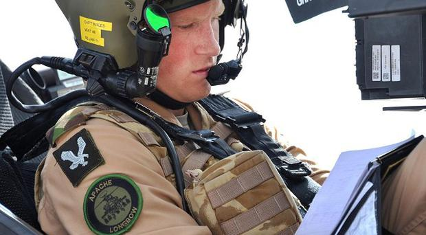 Prince Harry trained as an Apache helicopter pilot in El Centro, California