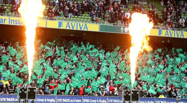 You've been flamed: Drama at the Aviva as the BBC's Supersers suffer a tiny malfunction