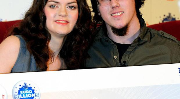 Matt Topham and Cassey Carrington scooped last Tuesday's EuroMillions jackpot