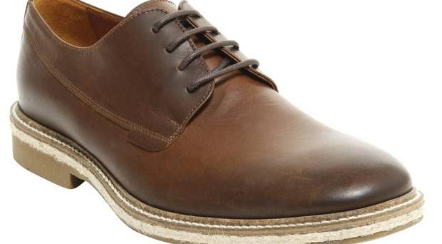 <b>1. Office: £60, office.co.uk -</b> This pair of brown leather lace-up shoes is a great all-rounder. The classic shape and style will work well with a grey suit but would also look great with a cuffed pair of chinos.