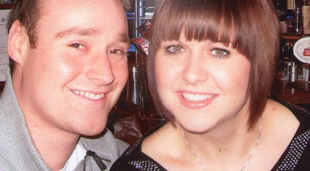 Andrew Cantle with his girlfriend Beth Webster