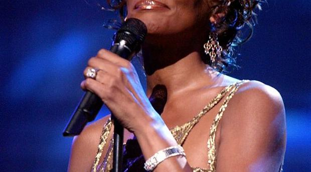 Whitney Houston is seen performing on stage during the 2004 World Music Awards at the Thomas and Mack Center on September 15, 2004 in Las Vegas, Nevada.
