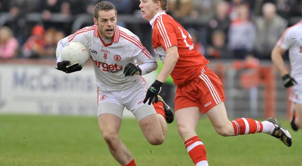 The form of players like Michael Murphy (left) have helped the new look Tyrone to a whirlwind start to the new season