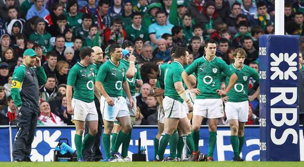 Obscene economics:spectators had to pay a premium for a pint at the Aviva Stadium during the Ireland v Wales match