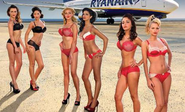 Ryanair's 2012 calendar featuring members of their cabin crew
