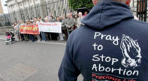 Strident protest: groups like Precious Life, led by director Bernie Smyth , are vociferous campaigners against abortion