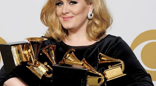 Adele picked up six Grammy awards