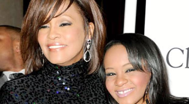 Singer Whitney Houston and hern daughter Bobbi Kristina Brown