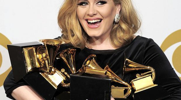 Adele said she was 'flabbergasted' by her Grammy success