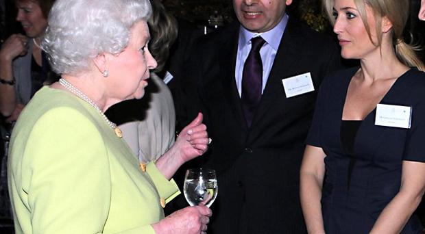 The Queen meets Rowan Atkinson and Gillian Anderson