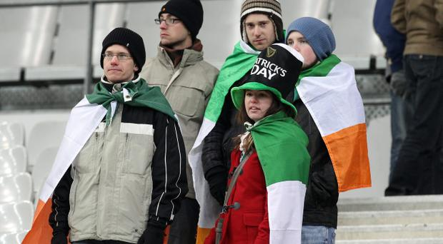 Dejected Irish fans made the journey to Paris in vain as the game was called off