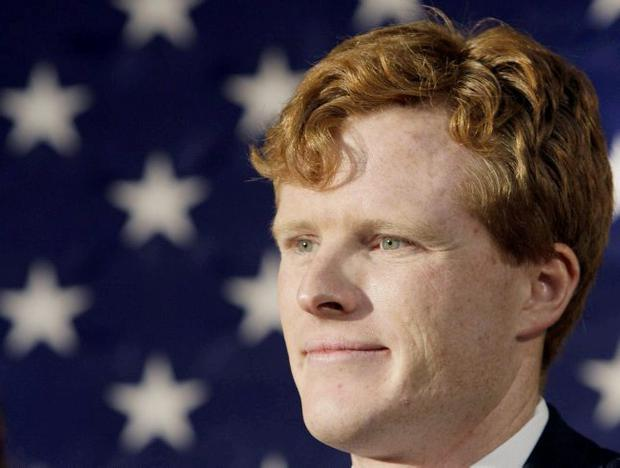 Joseph P. Kennedy III attends a campaign event for the senate candidacy of Martha Coakley in Medford, Mass.