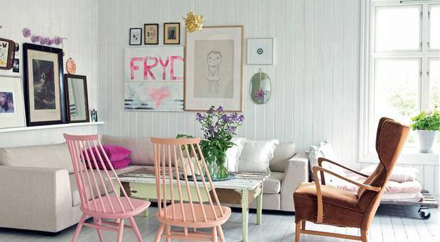 <b>The gentle touch:</b> Though many of Lake's interiors are overtly feminine, there are also ideas to create rooms with subtle splashes of colour