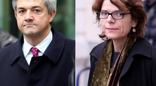 Former energy secretary Chris Huhne and his ex-wife Vicky Pryce have appeared in court