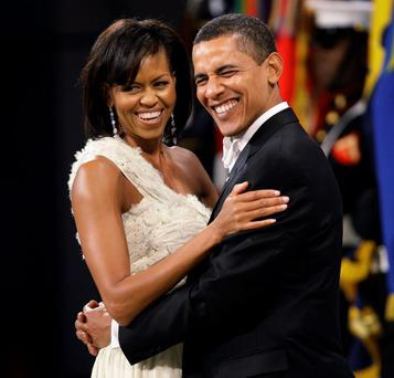 Perfect match: Barack Obama and wife Michelle