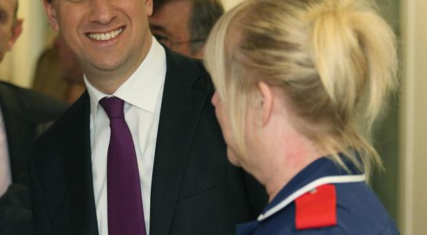 Labour leader Ed Miliband will address nurses at the Royal Bolton Hospital, in Greater Manchester