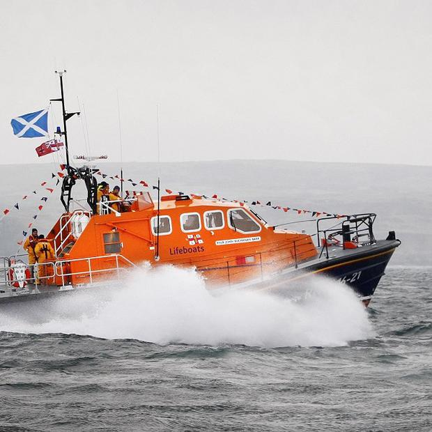 An RNLI lifeboat was called out after a trawler got into difficulty